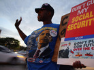 A protester at a fiscal cliff rally on Monday in Doral, Fla.