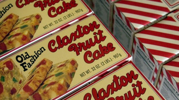 The Claxton Bakery in Georgia makes millions of pounds of fruitcake each year. (AP)