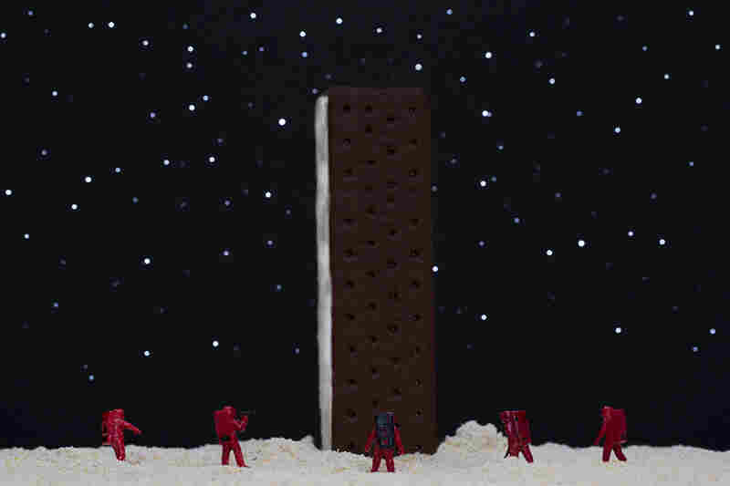 "Ice Cream Sandwich Monolith: ""My God, it's full of — vanilla ice cream!"""