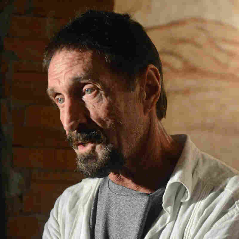 John McAfee, in Guatemala City before his detention.