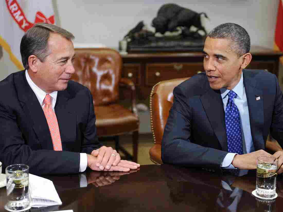 "President Barack Obama and Speaker of the House John Boehner met to discuss the impending ""fiscal cliff"" on Nov. 16, 2012."