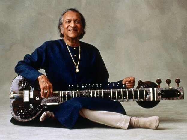 The late sitarist, composer and musical ambassador Ravi Shankar, who died Tuesday at age 92.