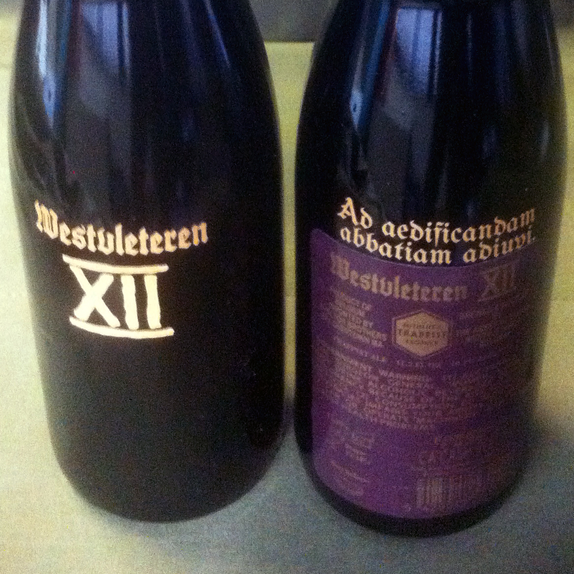 "For the first time, the vaunted Westvleteren 12 beer has hit U.S. beer store shelves in large numbers. The bottle's Latin inscription reads, ""Ad aedificandam abbatiam adiuvi,"" or, ""I helped to build the abbey."""