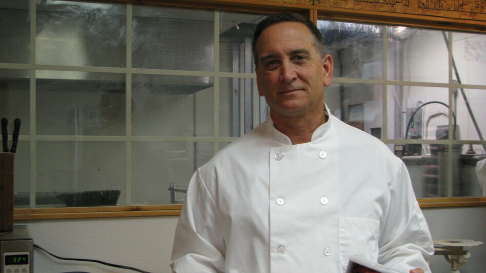 John Womble is the owner of the Georgia Fruit Cake Company in Claxton. (NPR)