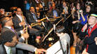 The clock strikes midnight with Wynton Marsalis and the Jazz at Lincoln Center Orchestra.