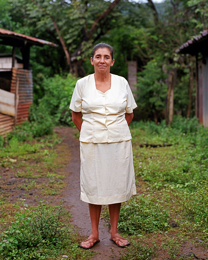 Juana, a former Mesa Grande refugee. She is a member of Valle Nuevo Directiva and of the Woman's Farming Collective.