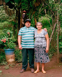 Pedro and Evangelina, former refugees at Mesa Grande and current members of the Valle Nuevo Directiva.