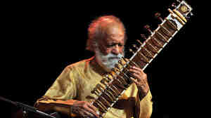 The late sitar master and Indian cultural legend Ravi Shankar performing in Bangalore in February 2012.