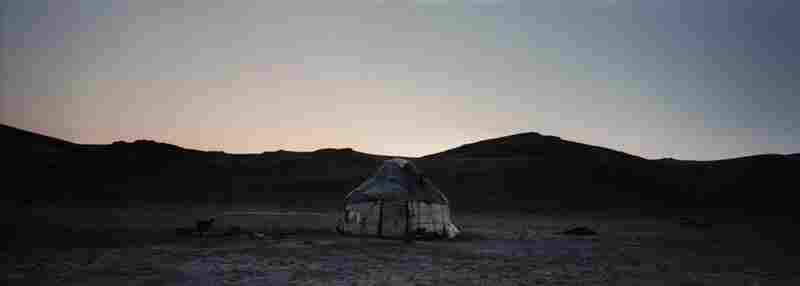 A Kyrgyz yurt near the Song Kol Lake in northern Kyrgyzstan, 2012. The Kyrgyz are the region's original nomads, living mainly in the mountainous areas. A number of Kyrgyz still practice a semi-nomadic life during the summer.