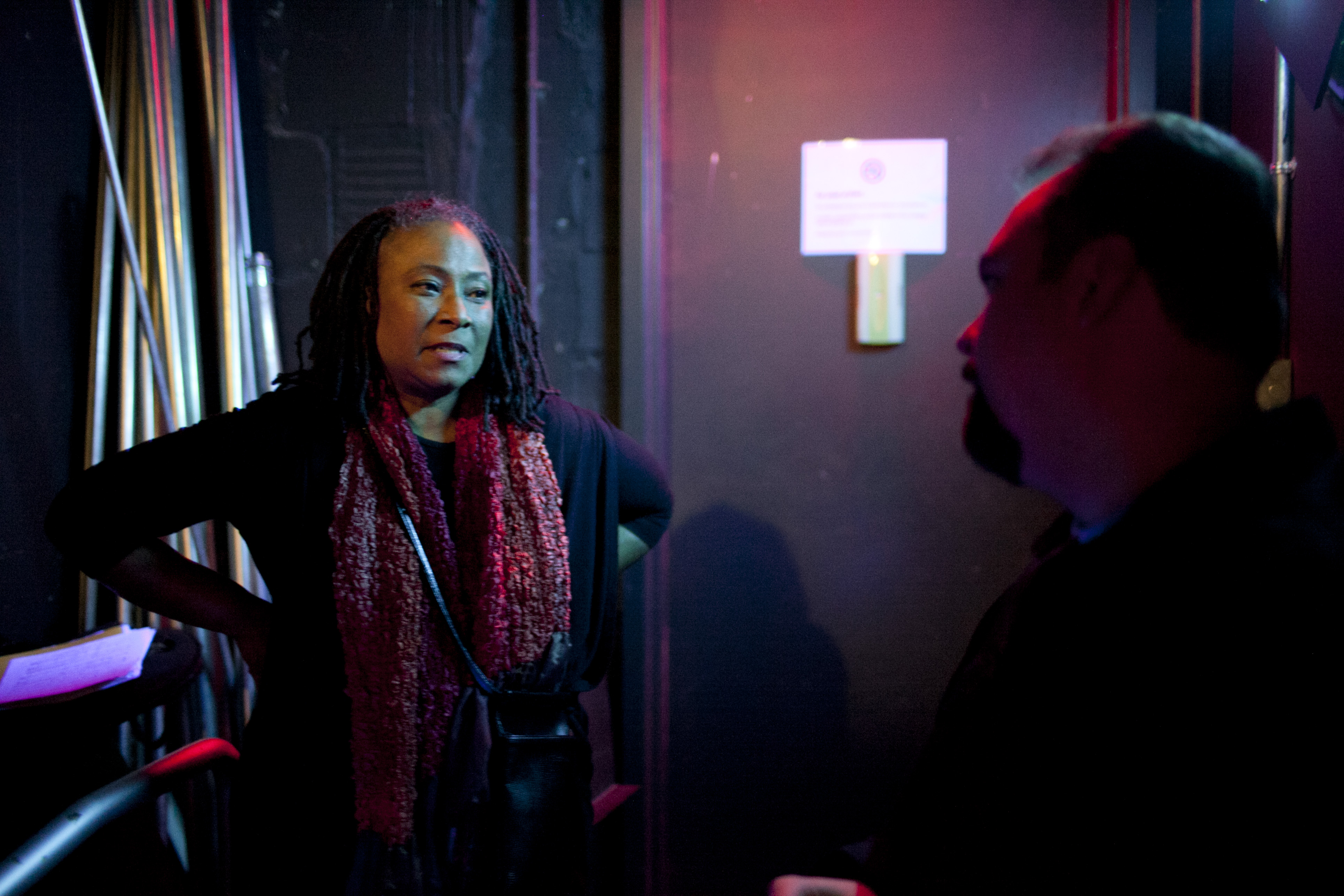 Geri Allen backstage with host Josh Jackson.