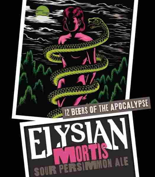 """Elysian released its Mortis Sour Persimmon Ale in November as part of its Twelve Beers of the Apocalypse. The label artwork features imagery from comic artist Charles Burns' """"Black Hole"""" series."""