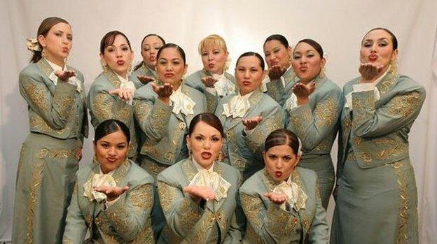 Mariachi Reyna de Los Angeles is an all-female mariachi band.