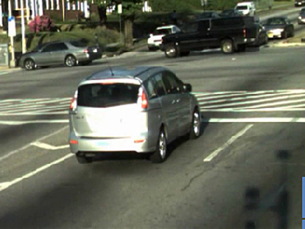 A screengrab of the video a speed-camera sent to driver Daniel Doty shows his car idling at a red light. Doty received a $40 fine for speeding.
