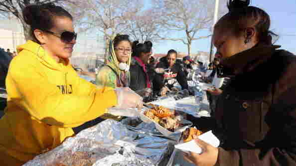 Nov. 22: Volunteers prepared  Thanksgiving dinners for people in the Queens borough of New York City, which was hit hard by Superstorm Sandy.