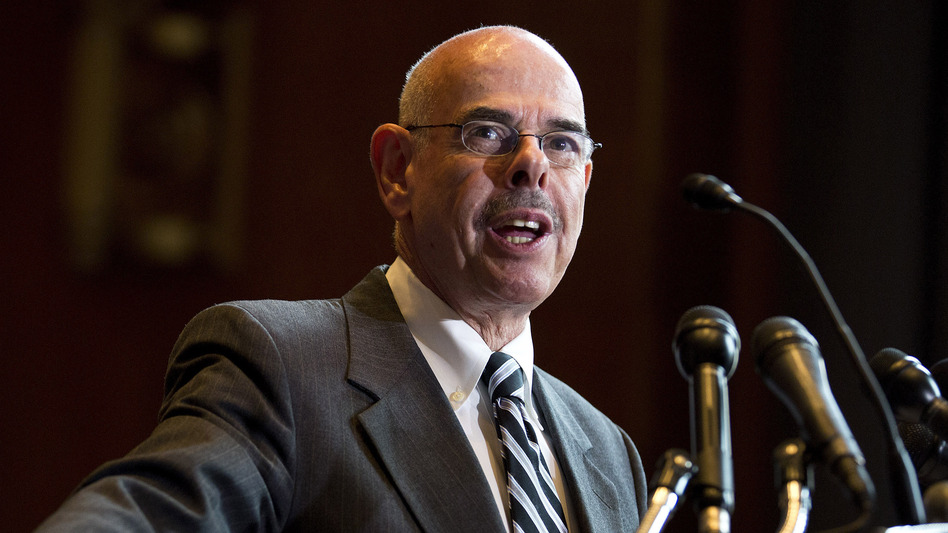 Rep. Henry Waxman, D-Calif., speaks Tuesday at a news conference calling for no reduction in the Medicare and Medicaid budgets, as part of the year-end budget talks on Capitol Hill in Washington. Waxman said he does not support means testing for Medicare. (Reuters /Landov)