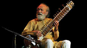 """""""He changed the whole approach to how an artist is perceived,"""" sitarist Shubhendra Rao says of his teacher, Ravi Shankar (pictured)."""