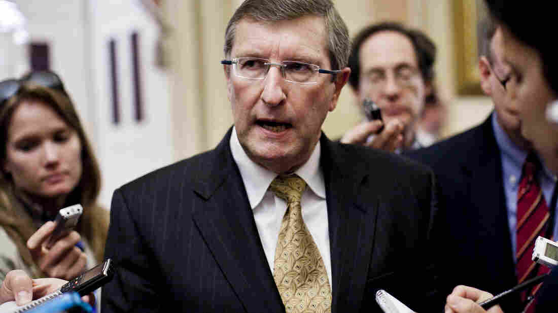 Senate Budget Chairman Kent Conrad, D-N.D., speaks to the media at the Capitol in March.