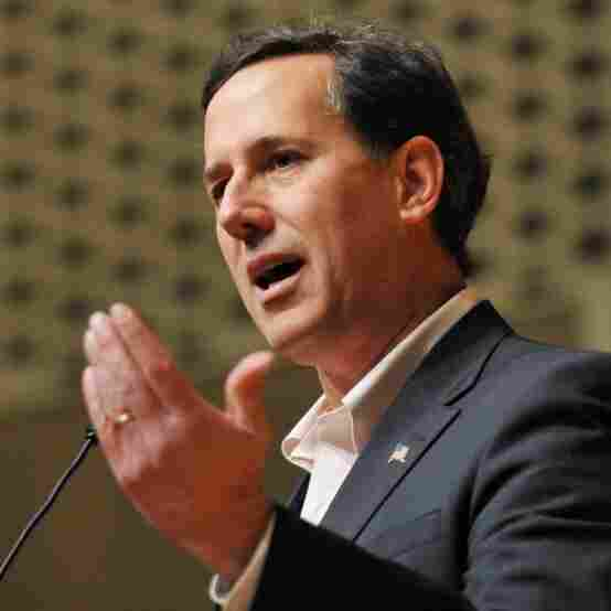 Republican presidential hopeful Rick Santorum speaks during the Colorado Election Energy Summit February 6, 2012 at the Colorado School of Mines in Golden, Colorado.
