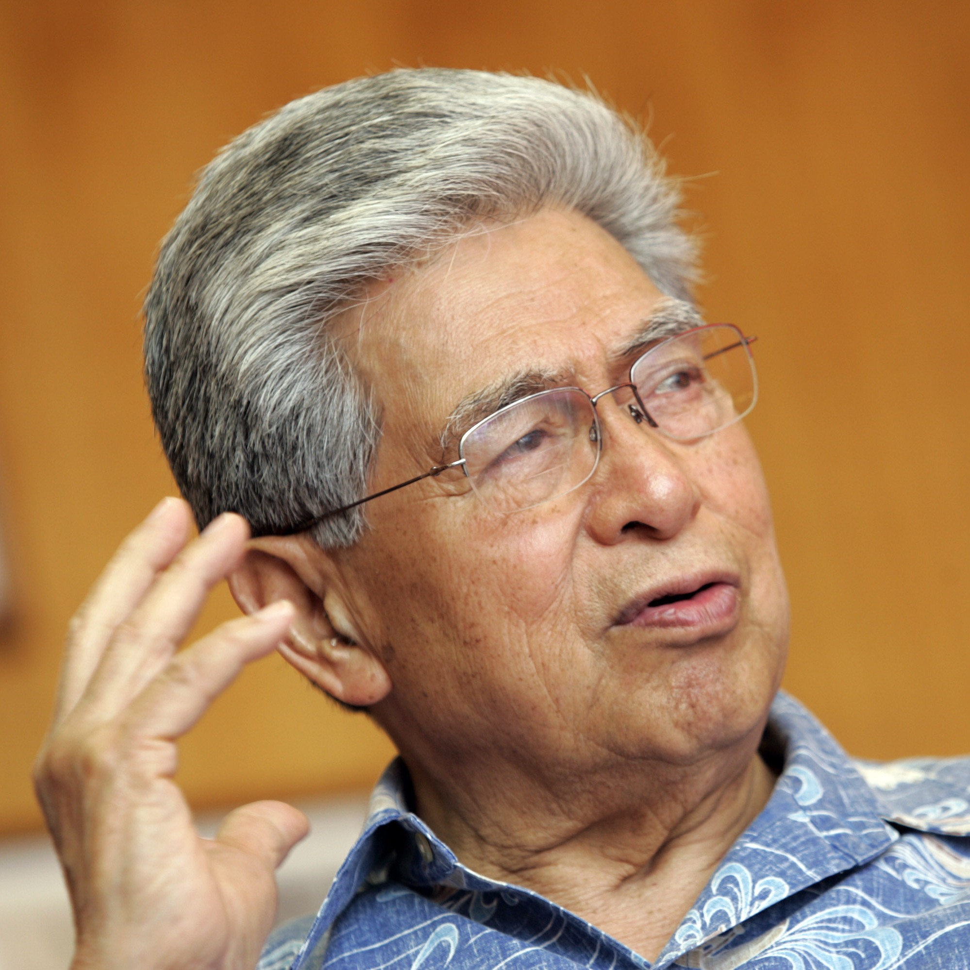 Sen. Daniel Akaka, D-Hawaii, is seen in his Honolulu office in 2007.