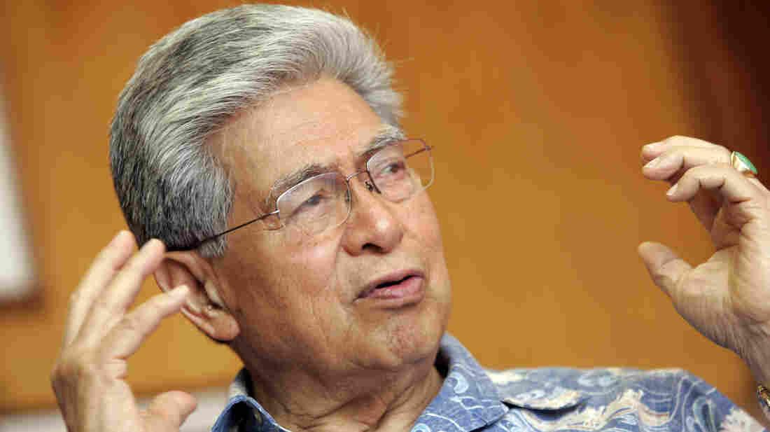 Sen. Daniel Akaka, D-Hawaii, is seen in his Honolulu office in 2007.