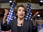 House Minority Leader Nancy Pelosi of California said Democrats aren't going to throw America's seniors over the fiscal cliff to give a tax cut to the wealthiest.