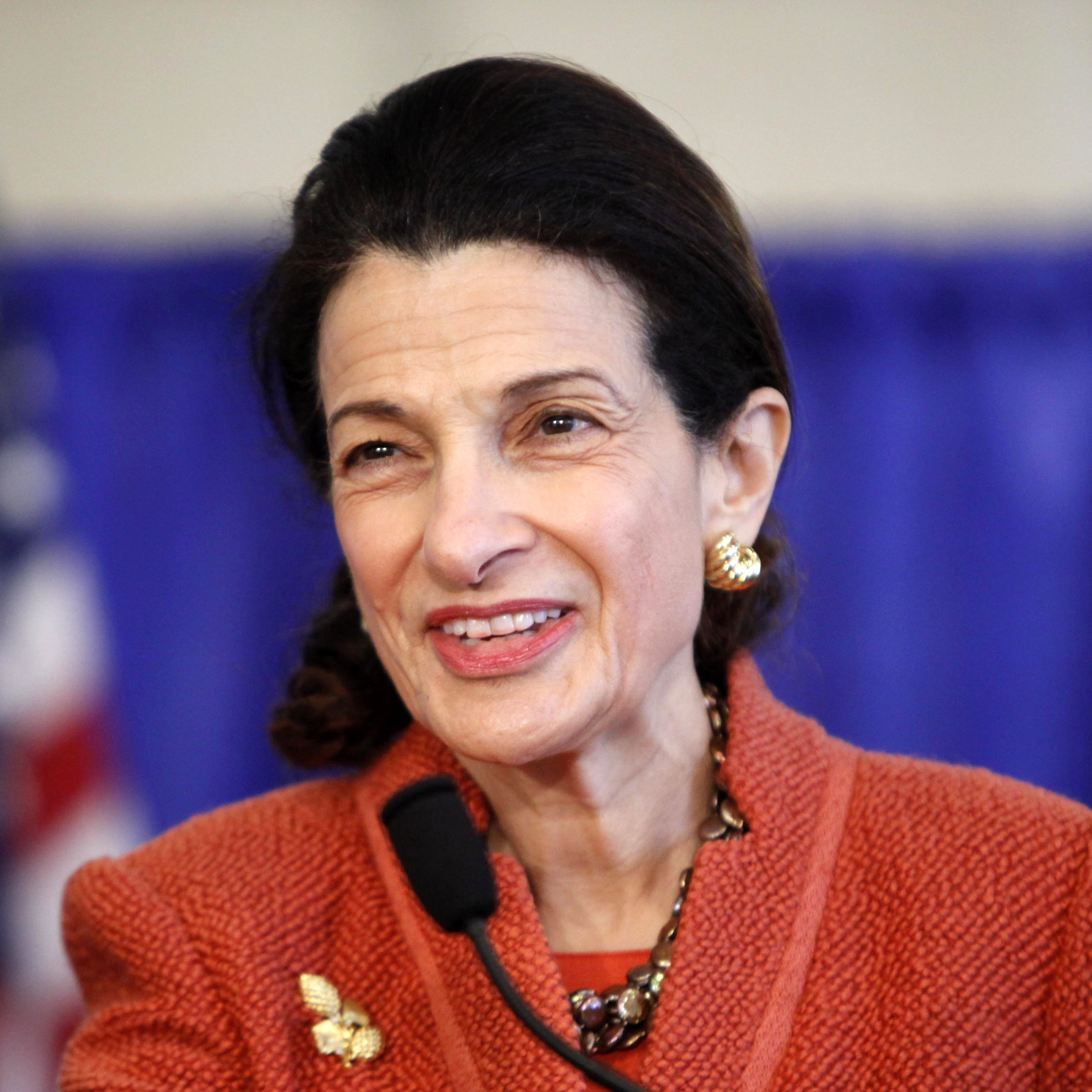 Sen. Olympia Snowe, R-Maine, speaks at a news conference in South Portland in March.