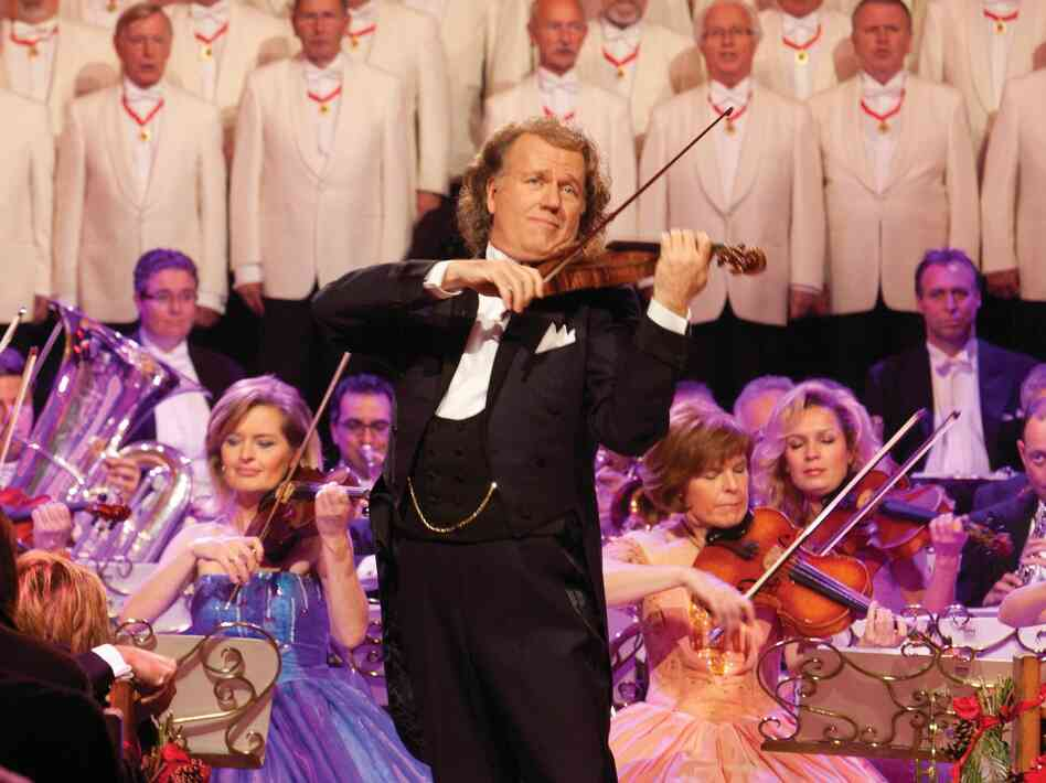 Andre Rieu's latest release is an album and DVD of Christmas music called Home for the Holidays.