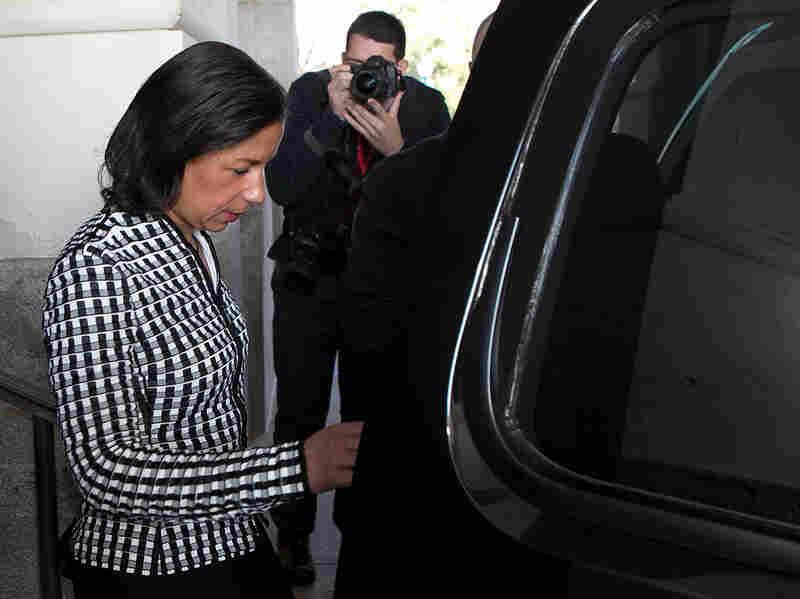 U.N. Ambassador Susan Rice, leaves the U.S. Capitol on Nov. 28.