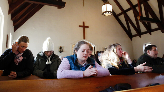 Parishioners attend a prayer service at Saint Johns Episcopal Church near Sandy Hook Elementary School in Newtown, Conn. (UPI /Landov)