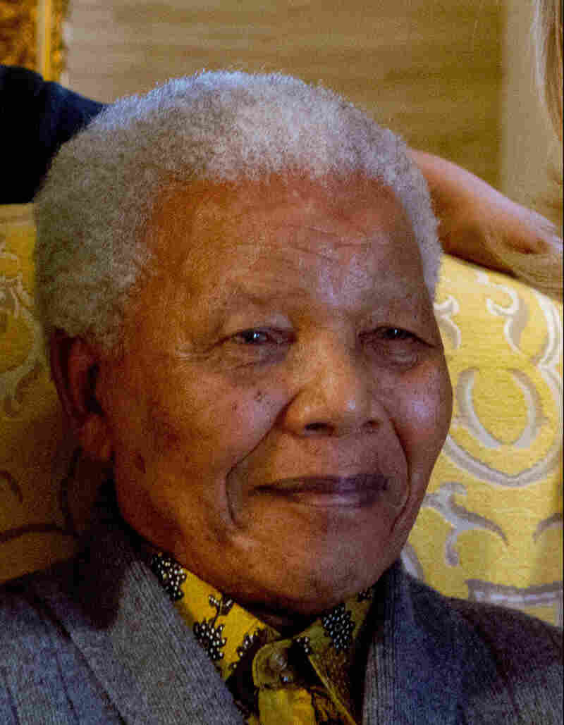 Former South African President Nelson Mandela at his home in Qunu, South Africa, in February.  The 94-year-old underwent surgery to remove gallstones on Saturday.