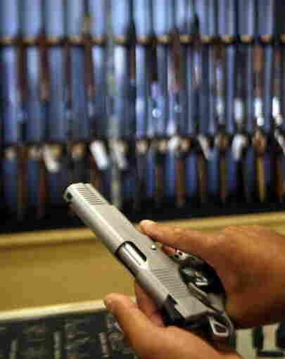A gun shop in Glendale, Calif.