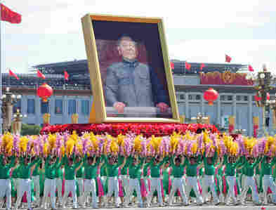 A giant portrait of Mao Zedong is carried during National Day celebrations in Beijing in October.