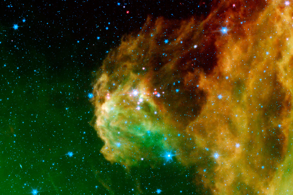 """""""Infant stars 'hatching' in the head of the ... constellation Orion."""""""