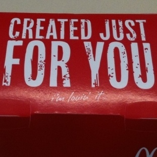 "In this case, ""Created Just For You"" sounds like a threat."