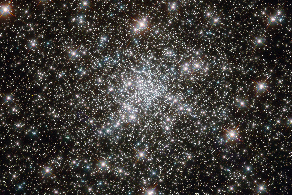 "NGC 6752, a globular cluster that is more than 10 billion years old, contains a high number of ""blue straggler,"" or younger, stars."