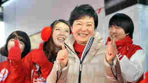 South Korean presidential candidate Park Geun-hye, who appears slightly favored in Wednesday's election, is the daughter of a military dictator who ran the country for nearly two decades. She would be South Korea's first female president.