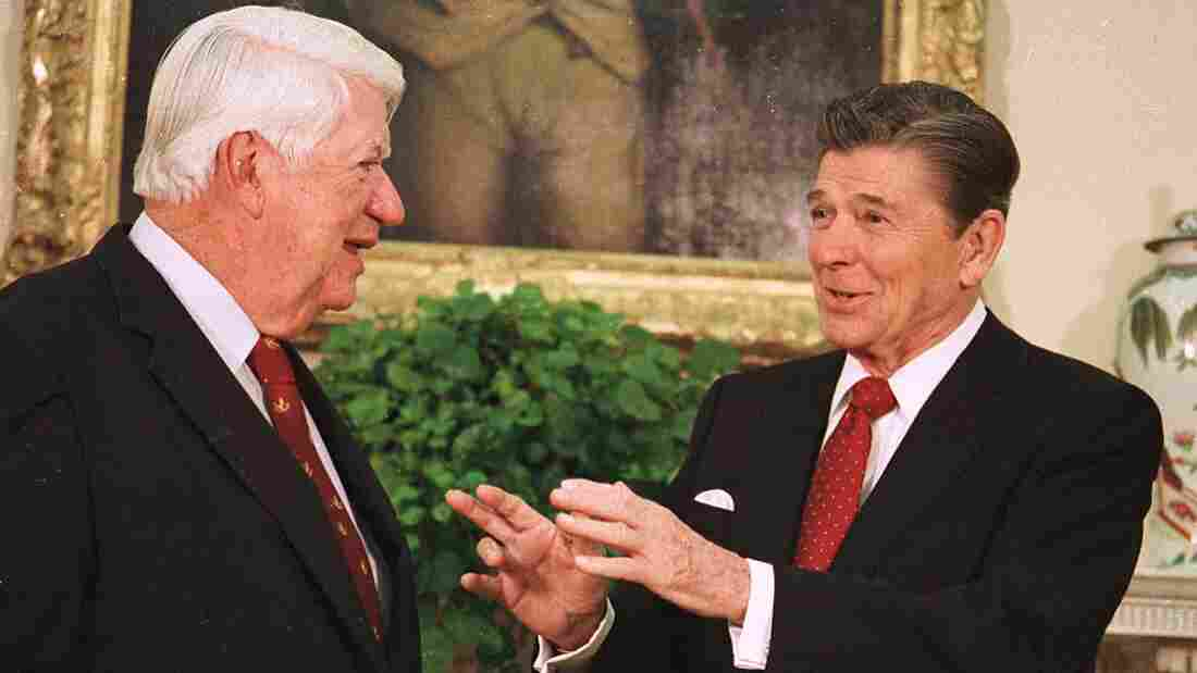 """President Reagan and House Speaker Thomas P. """"Tip"""" O'Neill were able to forge a bond — something that has eluded President Obama and John Boehner."""