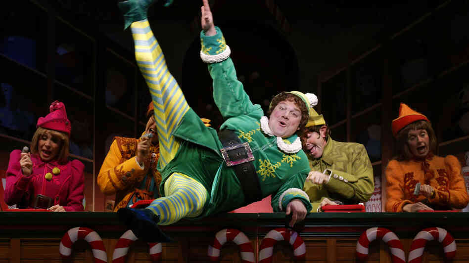 Jordan Gelber plays Buddy the Elf in Elf on Broadway. The limited-run production may not turn a profit immediately, but producers have a multipronged str