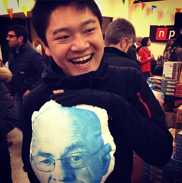 From @frankchi via Instagram: Me and my Carl Kasell pillow.