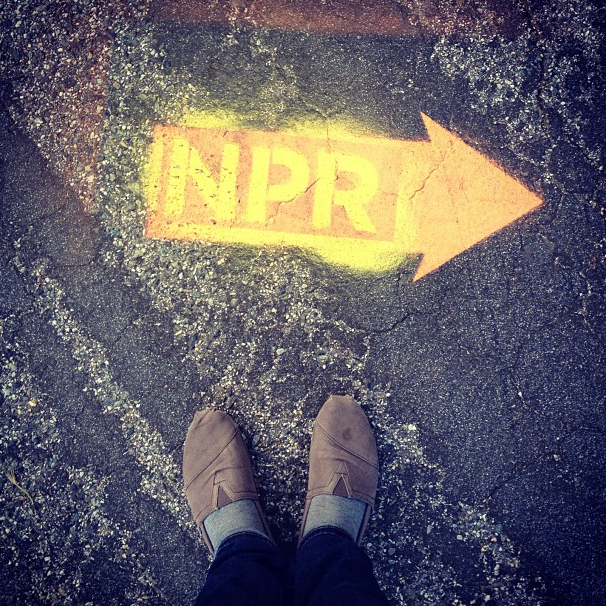From @lchmela via Instagram: Maybe the greatest/nerdiest day ever! #pchh live & #nprswag