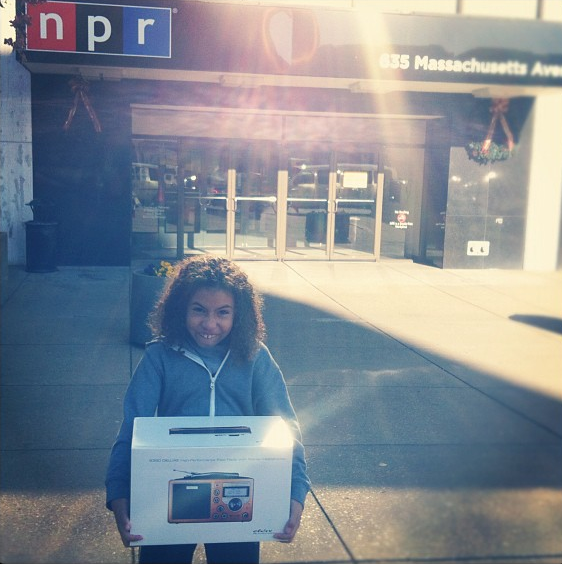 From @jefeto via Instagram: If [a] kid says they want a radio you have to buy them a radio, don't you? #nprswag