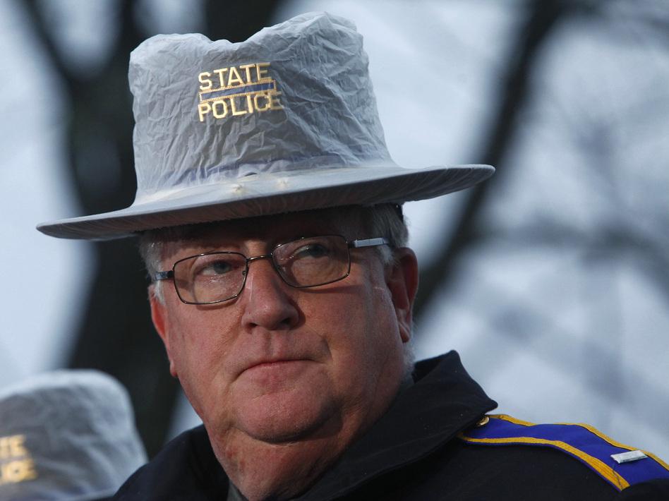 Connecticut State Police spokesman Lt. J. Paul Vance. (Eric Thayer /Reuters /Landov)