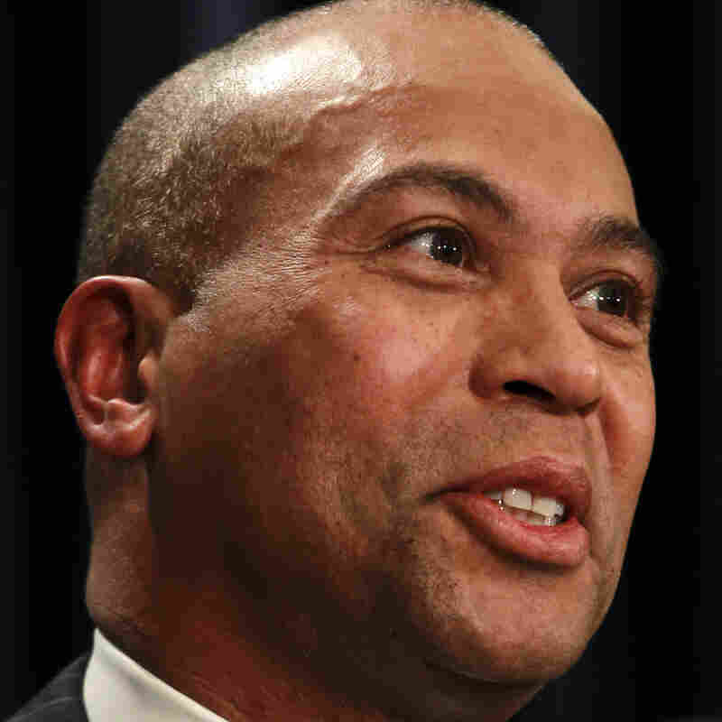 Massachusetts Gov. Deval Patrick says uncertainty about a federal budget deal in Washington played a big part in his recent announcement of cuts to his state's budget by $500 million.