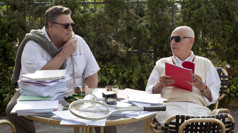 John Chambers (John Goodman) and Lester Siegel (Alan Arkin) help craft a fake movie production in Argo. (Warner Bros.)