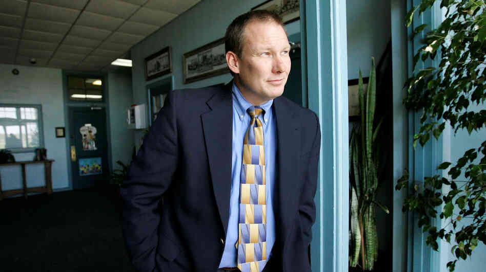 David Thweatt, the school superintendent in Harrold, Texas, is seen in 2008. Troubled by school shootings around the country, Thweatt decided to arm school staff.