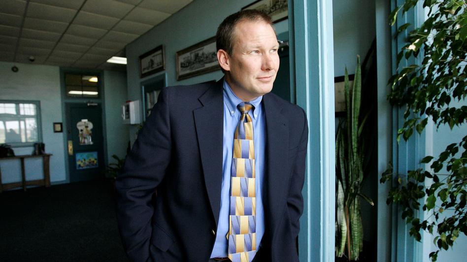 David Thweatt, the school superintendent in Harrold, Texas, is seen in 2008. Troubled by school shootings around the country, Thweatt decided to arm school staff. (Tony Gutierrez/AP)