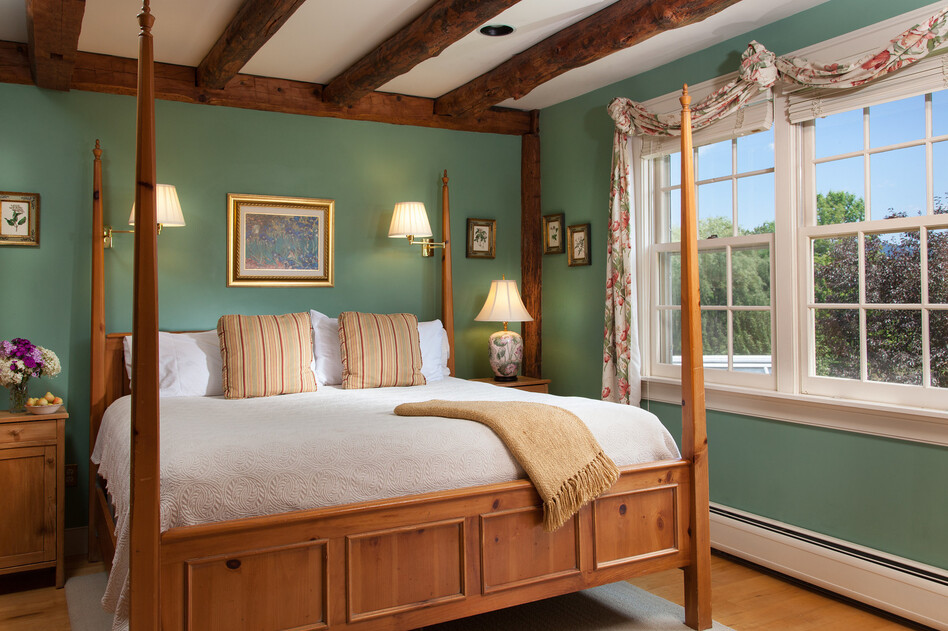 Innkeepers are combating old stereotypes about bed and breakfasts. The Abbott Room at the Round Barn Farm in Waitsfield, Vt., was renovated in 2009 to reflect more modern tastes.