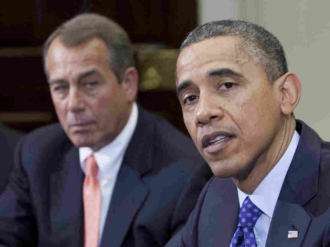 President Obama and House Speaker John Boehner, R-Ohio, at the White House last month.