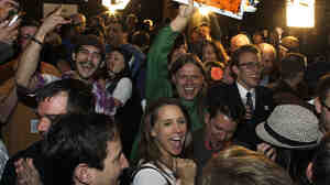 People at a Denver party early this month celebrate the recognition of an amendment to the Colorado constitution legalizing recreational use of marijuana.