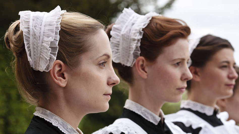 Housemaids Anna Smith (Joanne Froggatt) and Ethel (Amy Nuttall) are among the teeming staff required to keep an English manor running. (PBS)